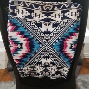 XS Multi-Colored Print Skirt